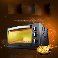 迷你电烤箱30升家用烘焙功能自动蛋糕 黑色