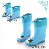 防水轻便保暖小童防雨鞋套收口儿童透明雨靴男童中大童学生新
