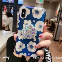 蓝光小雏菊苹果Xs max手机壳iphone6plus/7p/8plus网红支架XR女潮 苹果7 8 蓝光小雏菊 4.