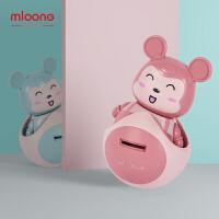 曼龙婴儿储蓄罐声光不倒翁3-6-12个月宝宝音乐儿童早教0-1岁小孩抓握玩具