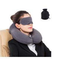 户外枕头u形枕头充气u型枕旅行枕颈椎枕便携吹气枕飞机旅游三宝脖子护颈枕