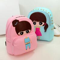 韩版可爱公主儿童包包幼儿园pu双肩包女童小背包出游小学生书包潮