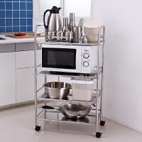 【满减】ORZ 大容量不锈钢板四层微波炉架 厨房浴室客厅多用途置物架实用多层架