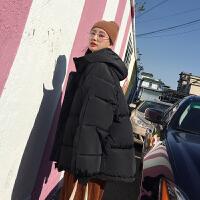 女短款韩版宽松原宿风小棉袄学生bf冬季ins面包服潮