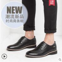 富贵鸟男鞋夏季新款真皮英伦商务皮鞋青年男士软底软面皮休闲鞋子