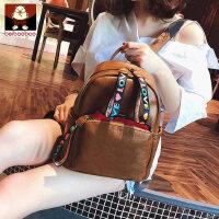 北包包2018新款双肩包女包包书包韩版软皮背包百搭时尚学院风学生