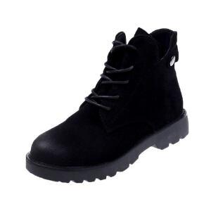 WARORWAR 2019新品YM82-T361冬季韩版平底鞋舒适女鞋潮流时尚潮鞋百搭潮牌靴子短靴