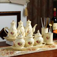 厨房用品盐罐陶瓷调料瓶罐调味料盒家用油瓶醋壶调味罐套装组合装