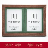 FGHGF 实木欧式挂墙相框7寸5 8 10 A4 16寸相框组合实木照片墙相框墙