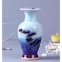 陶瓷器钧窑迷你小花瓶现代中式古典家居客厅装饰品插花摆件