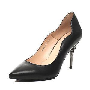 Belle/百丽春专柜同款小牛皮革女皮鞋3Z4J3AQ7