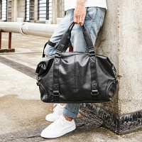 新款男士休闲斜挎单肩包 男韩版时尚潮流男包英伦手提包旅行包包 黑色