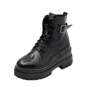 WARORWAR新品YM147-K58秋冬休闲平底舒适女士靴子短靴马丁靴