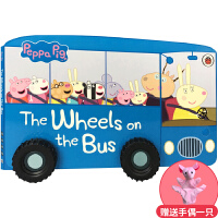 英文原版 公车上的轮子 3-6岁低幼儿童英语绘本图画趣味玩具书 Peppa Pig The Wheels on the