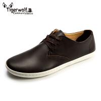 Tigerwolf虎狼公社 商务男鞋日常休闲韩版板鞋英伦休闲皮鞋男潮鞋
