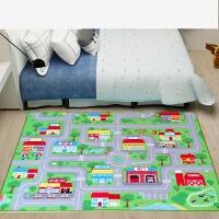 号汽车轨道儿童地毯停车场景图地垫交通路标志城市地图爬行垫 1500//x2000//