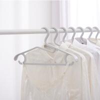 5个装 百露衣架家用塑料无痕多功能防滑衣架