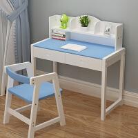 实木儿童学习桌家用写字桌椅套装小孩学生书桌升降写字台简约课桌