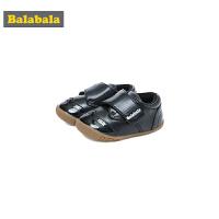 巴拉巴拉学步鞋防滑软底男1-3岁婴儿鞋子机能鞋2018新款冬季皮鞋