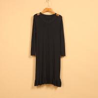 【铭】新款春8B1096时尚大气纯色蕾丝拼接裙式针织衫