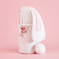 儿童保温杯大容量吸管学生便携兔子可爱水杯女