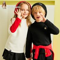【2件5折价:116.5元】暇步士童装儿童打底衫冬装新款女童针织衫男童宝宝加绒上衣