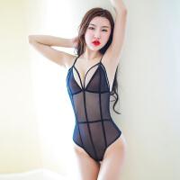 性感情趣内衣服女制服诱惑sm骚夜店透视装三点式成人用品激情套装