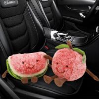 卡通水果可爱车载竹炭包汽车用吸甲醛车内竹炭包新车除味摆件公仔 平安幸福一对 40cm【含1KG炭】