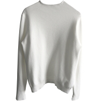 半高领加厚针织衫女式冬季开叉长袖套头简约韩国糖果色打底衫毛衣 均码