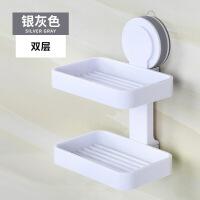 卫生间肥皂盒吸盘香皂盒大号双层沥水皂盒创意实用时尚吸盘式