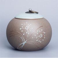 茶叶罐 陶瓷粗陶大号小号罐普洱茶罐 茶缸