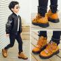 男童牛皮棉鞋2018冬季新款童鞋休闲保暖儿童时尚加绒马丁靴 宝宝短靴潮