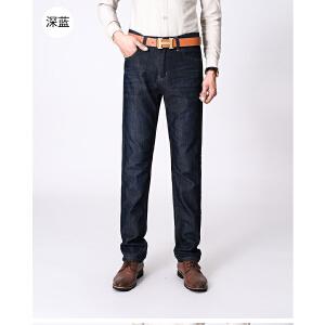 1号牛仔时尚男士商务休闲牛仔裤修身小直筒长裤666