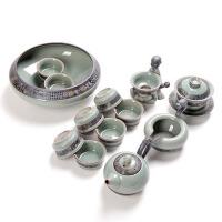 哥窑冰裂功夫茶具套装 陶瓷茶杯茶海茶壶茶漏茶具套组家用办公室