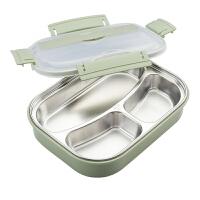 小学生食堂简约韩国儿童带盖快餐盒不锈钢保温饭盒便当盒分格
