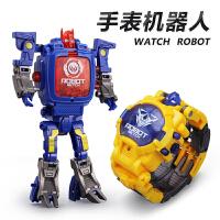 儿童手表变形金刚4玩具9卡通5机器人个性电子表男孩益智3-6周岁7