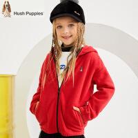 【3件3折:88元】暇步士童装秋季新款男女同款外套时尚舒适摇粒绒保暖外套儿童外套