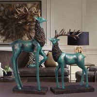欧式现代客厅玄关酒柜装饰品摆件电视柜麋鹿摆件家居家装摆设