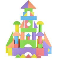 泡沫积木 大块大颗粒软体积木 拼搭组装婴儿幼儿园宝宝淘气城堡房子玩具