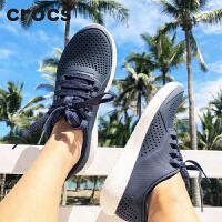 【秒��r】Crocs�鲂� 卡��Y2018新款 男士LiteRide徒步系��鞋|204967 男士LiteRide徒步系��