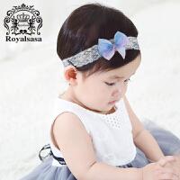 皇家莎莎 儿童发饰头饰品女童公主韩国宝宝发带蝴蝶结生日礼物头花