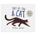 【预订】They All Saw a Cat他们都看见一只猫 凯迪克奖作品 英文儿童绘本 3-6岁