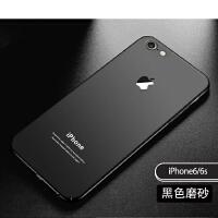 苹果7plus手机壳8p潮牌黑色6s超薄iPhone7硬壳磨砂全包6p防摔男女 苹果6/6s黑色 4.7寸