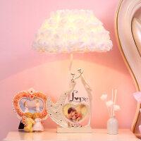 结婚礼物定制创意实用婚庆摆件家居饰品送闺蜜朋友新婚纪念日礼品 白色 台灯+相框