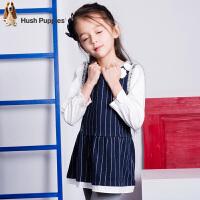 【4折到手价:172.48元】暇步士童装女童春季时尚拼接袖连衣裙