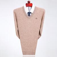 鄂尔多斯市产仿羊绒衫男v领加厚羊毛衫青年大码宽松毛衣套