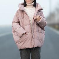 2018冬季新款韩版中长款蓬蓬羽绒棉衣宽松矮个子快手同款面服