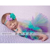 年满月百天新款摄影裙子套装 新生儿满月女宝宝拍照裙子百天