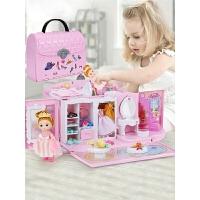 3-6岁女孩儿童玩具娃娃屋小别墅公主房子厨房过家家