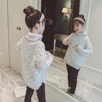 №【2019新款】冬天小朋友穿的女童毛衣儿童高领套头大童洋气针织打底衫冬